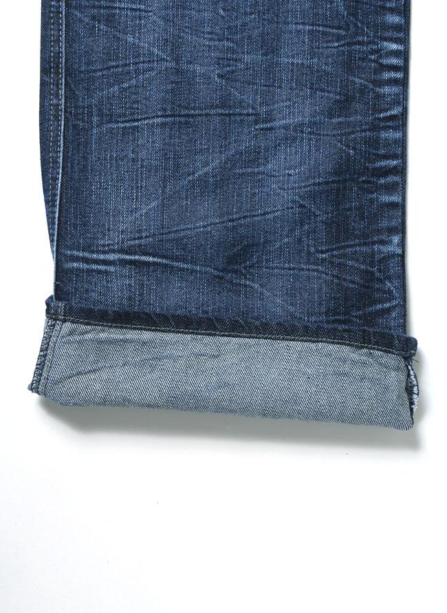 色落ち加工デニムZIP合皮切替7ポケットパンツ詳細04