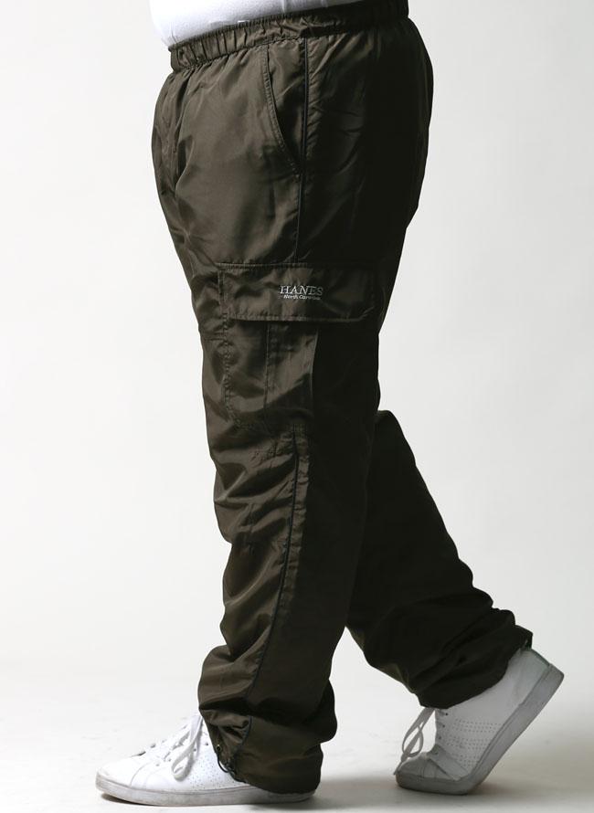 Hanes(ヘインズ) 裏起毛トリコット素材あったかカーゴパンツ 暖かい 防寒 カジュアルカラー1