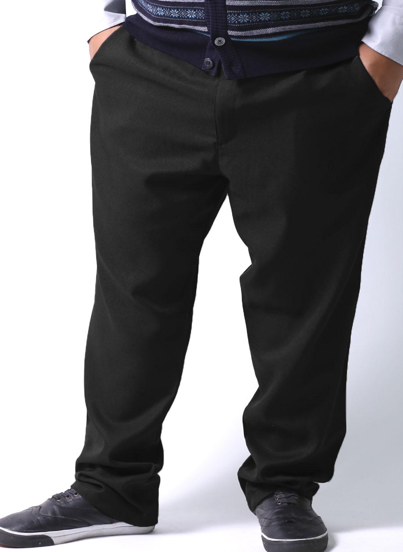 大きいサイズテーパードパンツメンズウエストゴムイージースタックスクライミングパンツ2L(100〜110)3L(110〜120)4L(120〜130)5L(130〜140)黒紺春秋冬