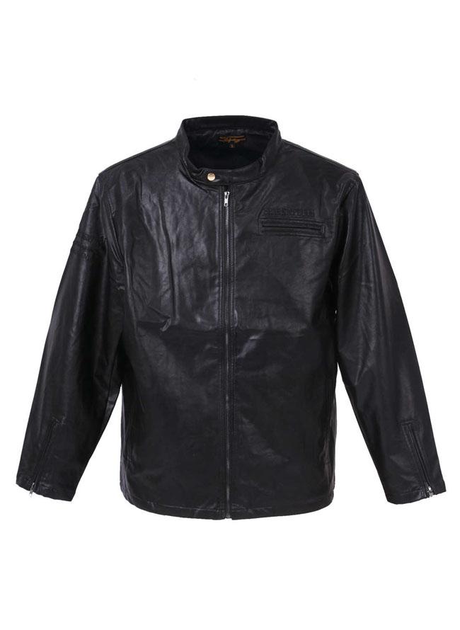 フェイクレザー刺繍ライダースジャケットカラー1