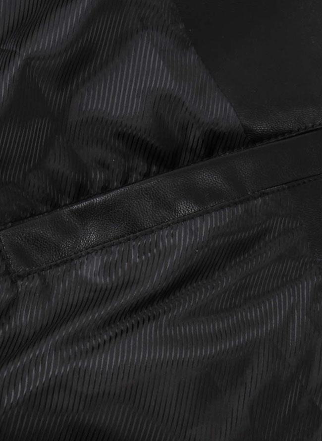 フェイクレザー刺繍ライダースジャケット詳細06