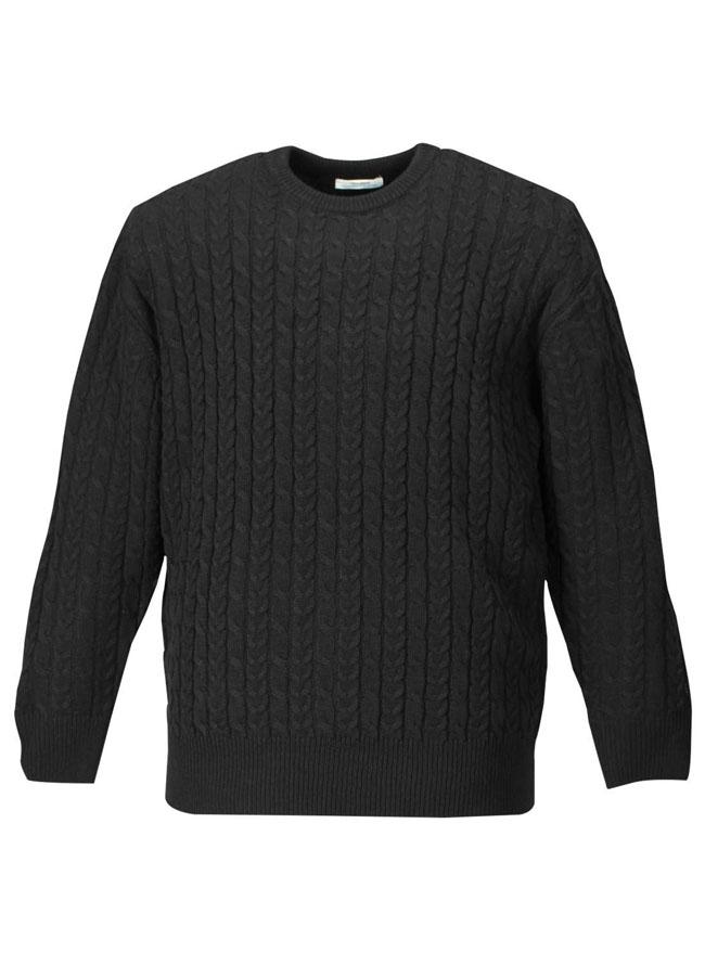 アクリル素材ケーブルクルーセーターカラー1