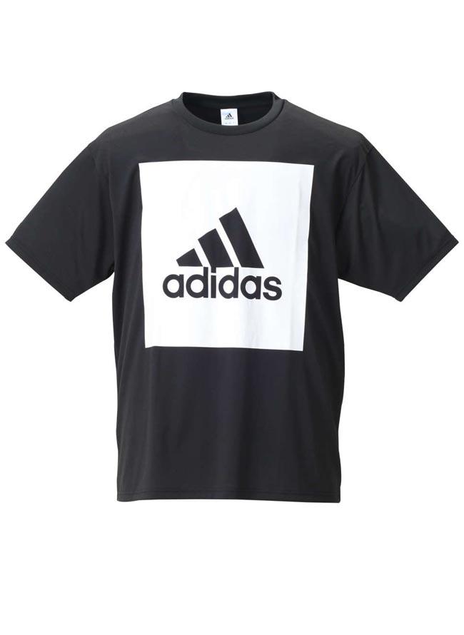 【大きいサイズ メンズ】adidas アディダス吸水速乾半袖半袖Tシャツ 2L(3XO)/3L(4XO)/4L(5XO)/5L(6XO)/6L(7XO)/7L(8XO)//カラー1