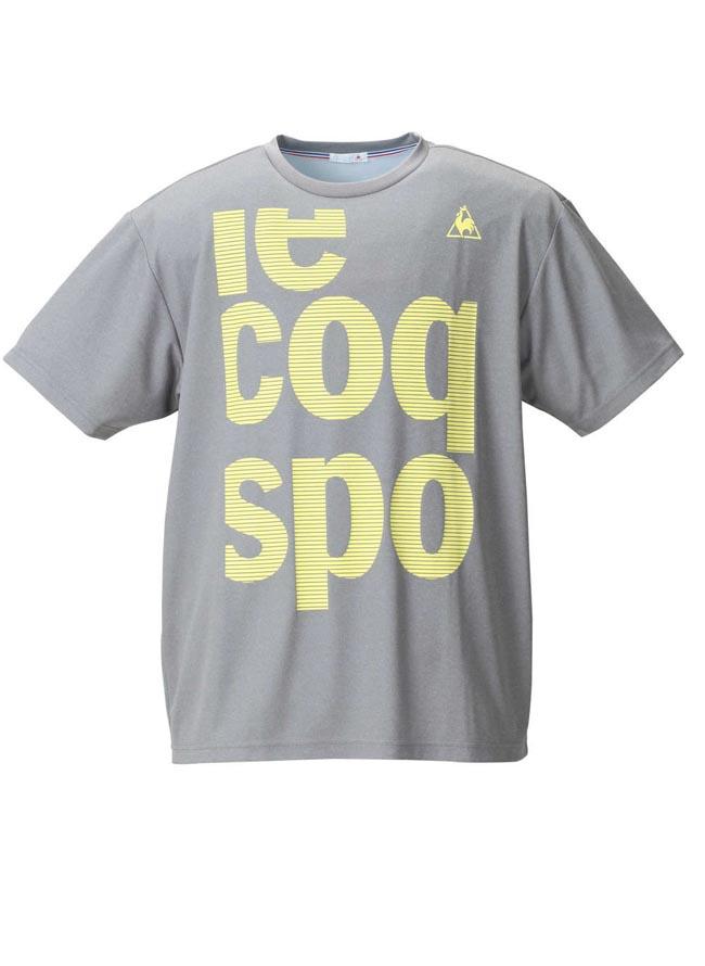 【大きいサイズ メンズ】LE COQ SPORTIF吸汗速乾半袖半袖Tシャツ 3L/4L/5L/6L////カラー1
