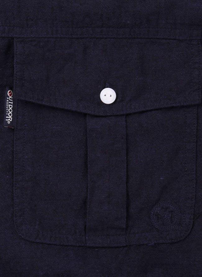 【大きいサイズ メンズ】OUTDOOR PRODUCTS (アウトドア プロダクツ)綿麻ロールアップ長袖シャツ カジュアルシャツ 3L/4L/5L/6L/8L/詳細12