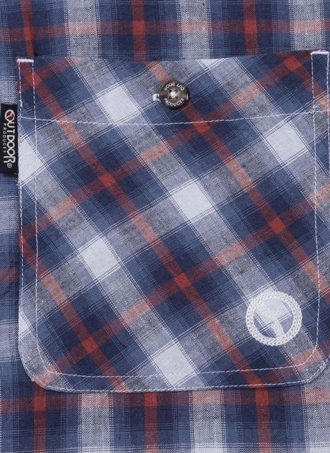 【大きいサイズ メンズ】OUTDOOR PRODUCTS (アウトドア プロダクツ)チェックロールアップ長袖シャツ カジュアルシャツ 3L/4L/5L/6L/8L/詳細03
