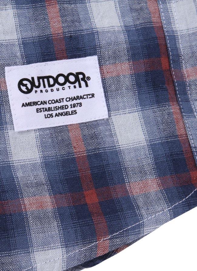 【大きいサイズ メンズ】OUTDOOR PRODUCTS (アウトドア プロダクツ)チェックロールアップ長袖シャツ カジュアルシャツ 3L/4L/5L/6L/8L/詳細07