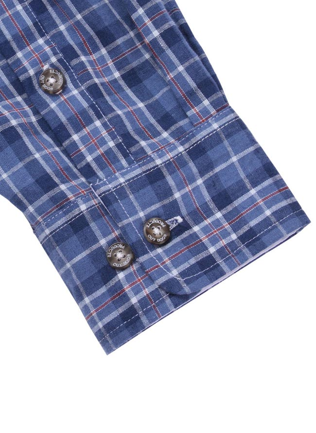 【大きいサイズ メンズ】OUTDOOR PRODUCTS (アウトドア プロダクツ)チェックロールアップ長袖シャツ カジュアルシャツ 3L/4L/5L/6L/8L/詳細11