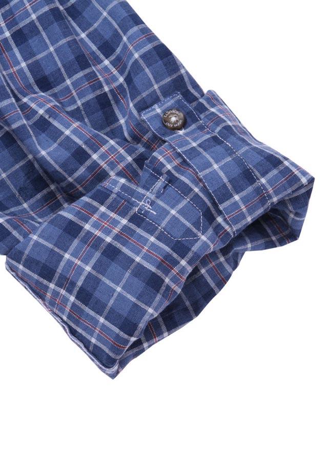 【大きいサイズ メンズ】OUTDOOR PRODUCTS (アウトドア プロダクツ)チェックロールアップ長袖シャツ カジュアルシャツ 3L/4L/5L/6L/8L/詳細12