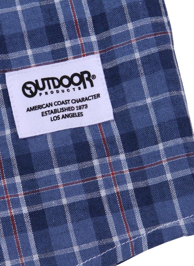 【大きいサイズ メンズ】OUTDOOR PRODUCTS (アウトドア プロダクツ)チェックロールアップ長袖シャツ カジュアルシャツ 3L/4L/5L/6L/8L/詳細14