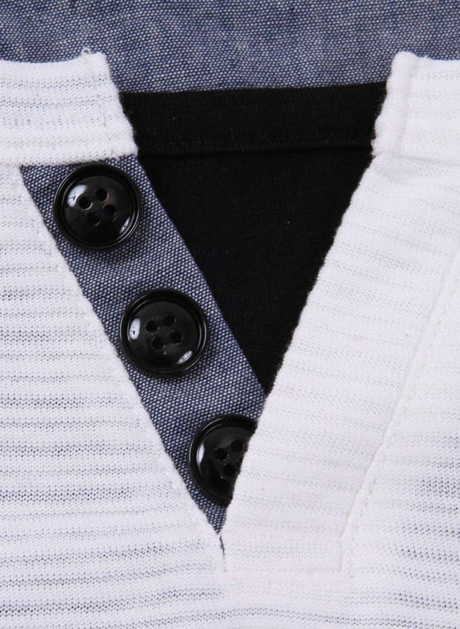 【大きいサイズ メンズ】Mc.S.P (エムシーエスピー)フェイクレイヤードキーネック長袖Tシャツ カットソー 3L/4L/5L/6L/8L/詳細07