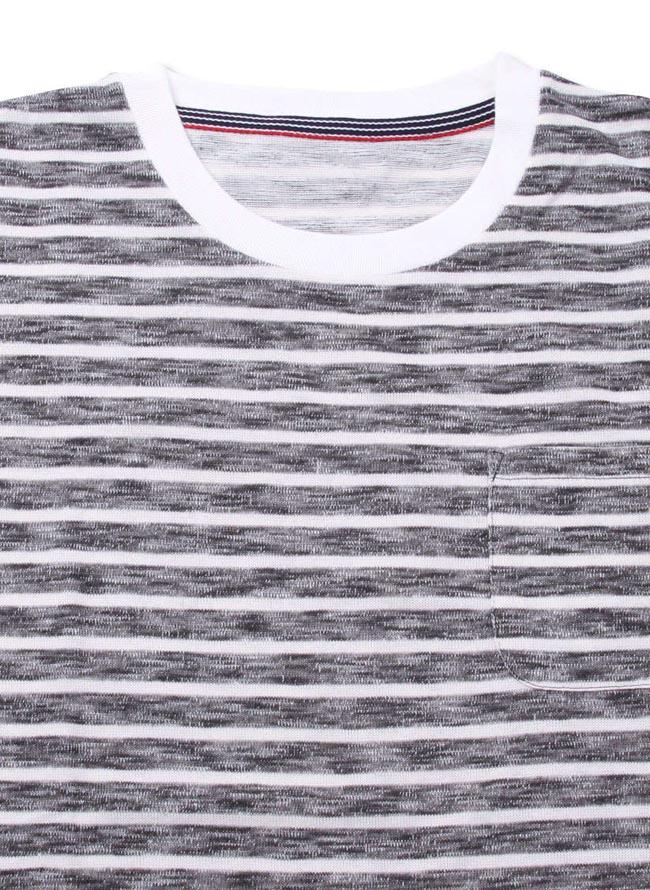 大きいサイズ半袖Tシャツカットソーメンズスラブ天竺Freegate(フリーゲート)ボーダー3L4L5L6L8Lカジュアル黒紺春夏