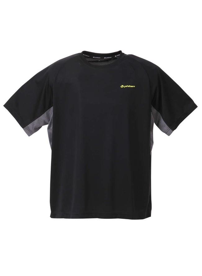 大きいサイズ半袖TシャツカットソーメンズUネックPhiten(ファイテン)吸汗速乾アクアチタン3L4L5L6L8Lスポーツ黒紺春夏