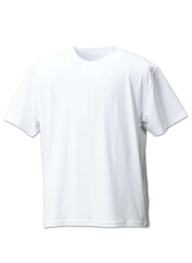 大きいサイズ半袖TシャツカットソーメンズクルーネックMc.S.P(エムシーエスピー)吸水速乾3L4L5L6L8L10Lカジュアル黒紺白灰春夏秋