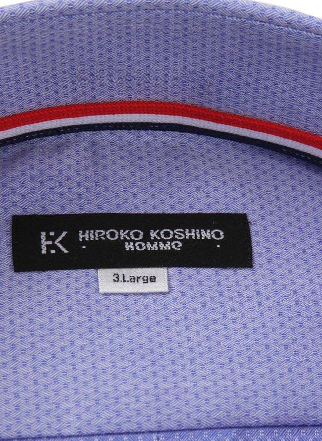 【大きいサイズメンズ】HIROKOKOSHINOHOMME(ヒロココシノオム)形態安定消臭ボタンダウン長袖ワイシャツ3L/4L/5L/6L/7L/8L