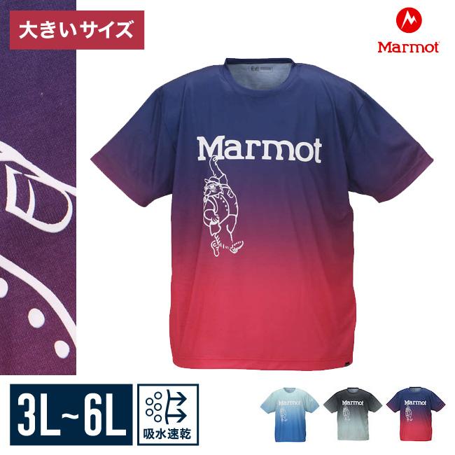 【大きいサイズメンズ】Marmot(マーモット)クルーネック半袖Tシャツカットソー3L/4L/5L/6L