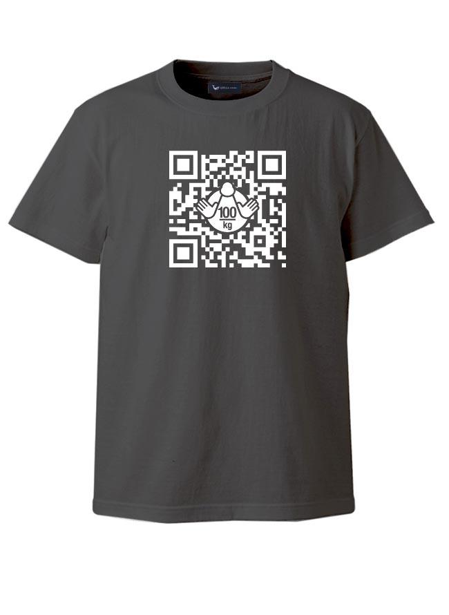 大きいサイズ半袖TシャツカットソーメンズUネックロゴTQT(キューティ)R指定QRコード綿100%SMLXL(2L)2XL(3L)3XL(4L)4XL(5L)5XL(6L)6.2oz黒紺春夏