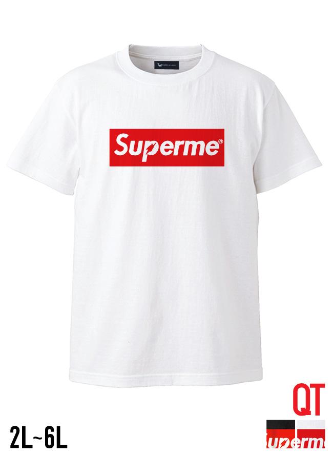 【大きいサイズ メンズ】QT(キューティ)Supermen スーパーメン 綿100%Uネック半袖Tシャツ カットソー 2L/3L/4L/5L/6L