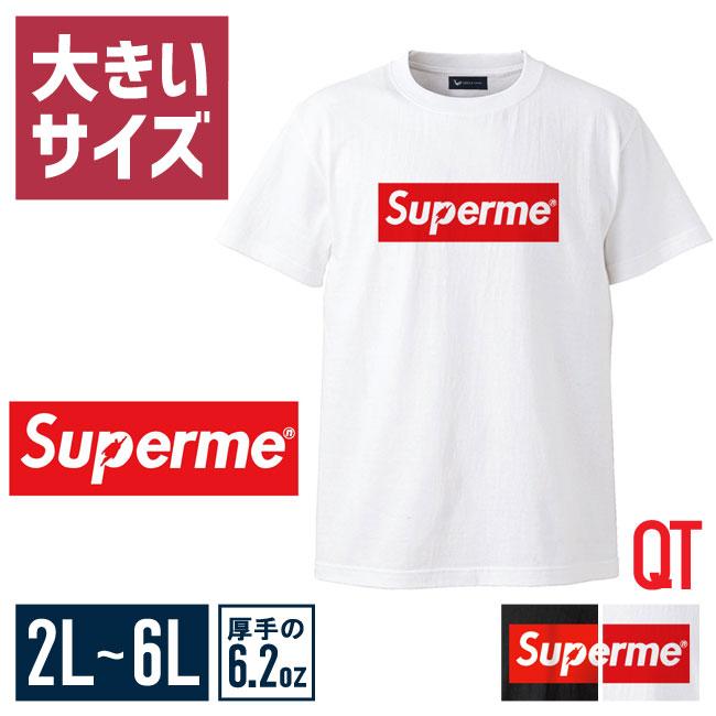 大きいサイズ半袖TシャツカットソーメンズUネックロゴTQT(キューティ)Supermenスーパーメン綿100%SMLXL(2L)2XL(3L)3XL(4L)4XL(5L)5XL(6L)6.2oz白春夏