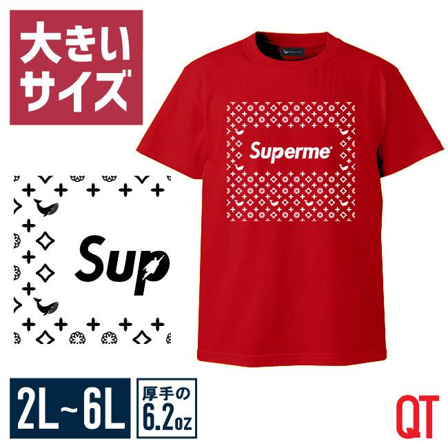 【大きいサイズメンズ】QT(キューティ)スーパーメン×QZILLAコラボUネック半袖TシャツカットソーXL(2L)/2XL(3L)/3XL(4L)/4XL(5L)/5XL(6L)/