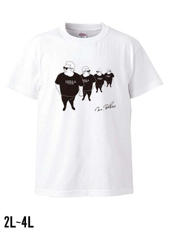 デブ散歩記念Tシャツ ホワイト[2L/3L/4L]