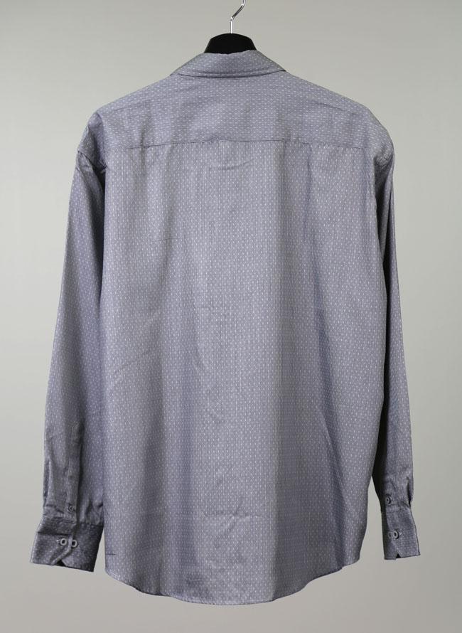 モダール混ドットストライプ長袖シャツ