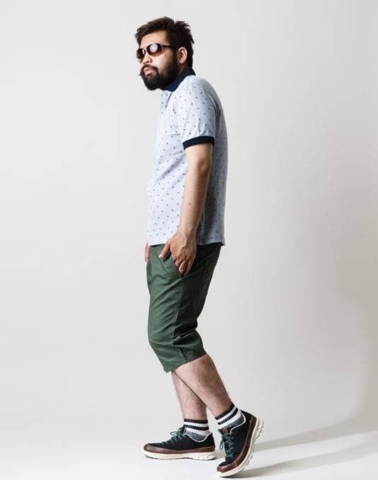 ポロシャツ+ハーフパンツは鉄板コーデ。男の夏物語。 03
