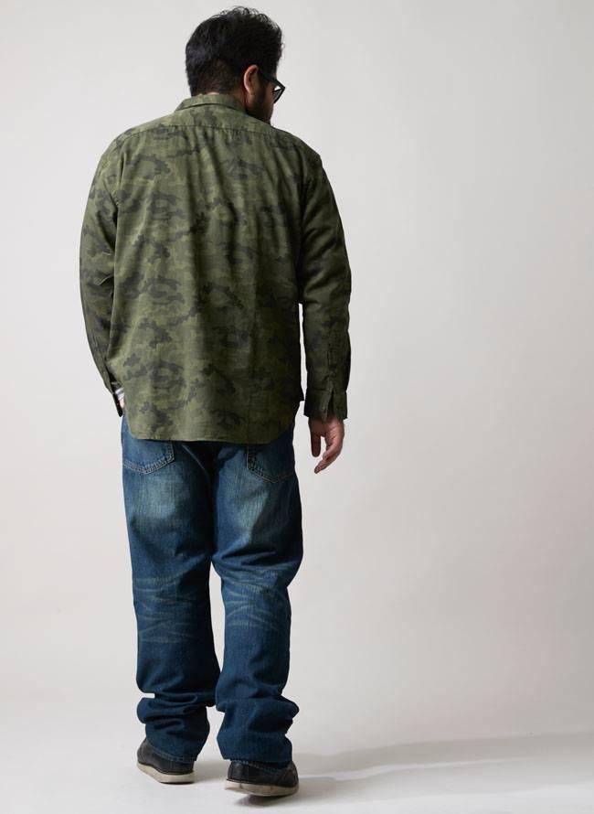 長袖迷彩シャツ