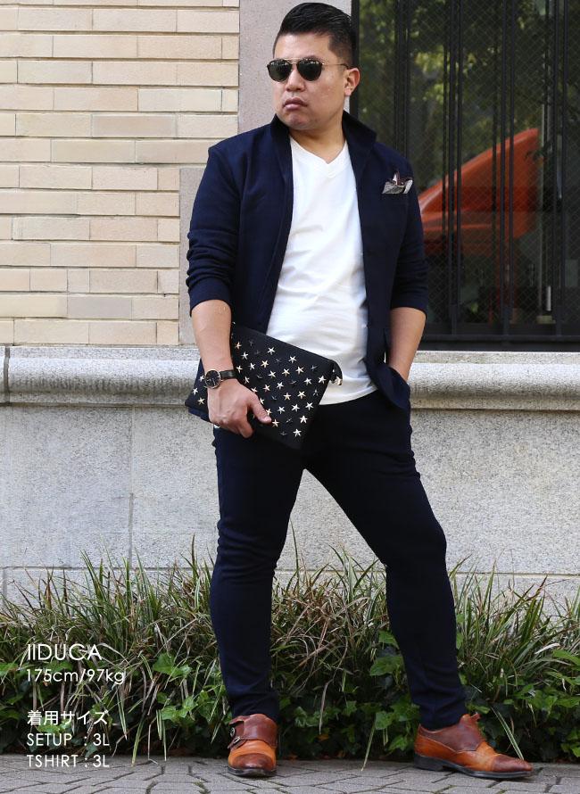ワッフルイタリアン襟ストレッチセットアップ 上下セット カジュアル スーツ テーラードジャケット ジョガーパンツ詳細15