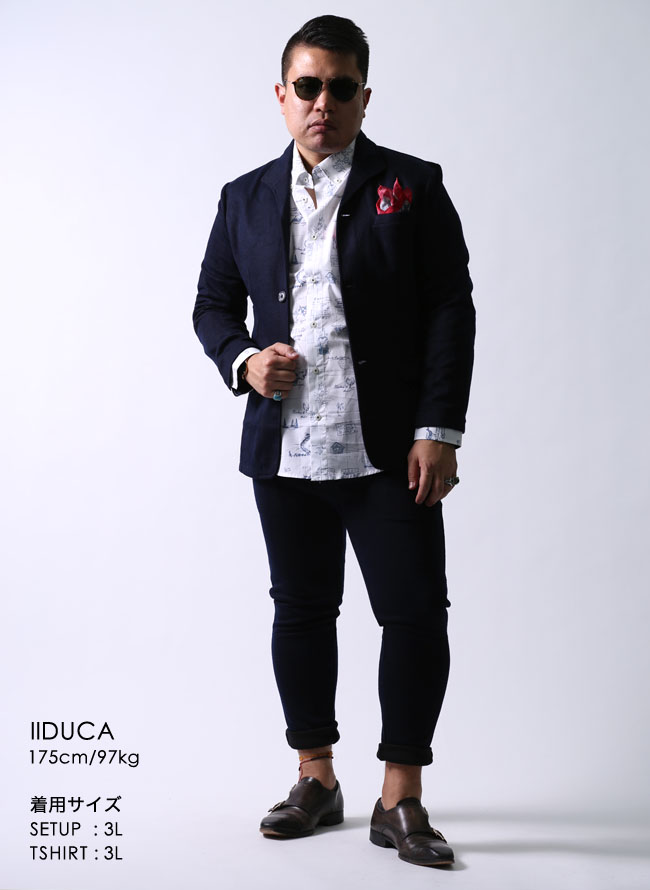 【大きいサイズメンズ】CAPRI(カプリ)イタリア柄綿100%ボタンダウン長袖シャツカジュアルシャツ2L(50)/3L(52)カラー6