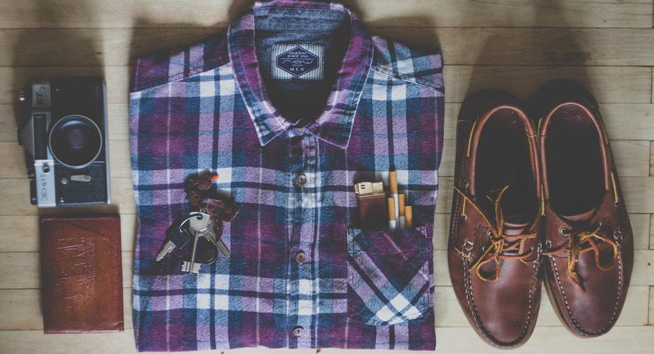 チェックシャツのコーディネート