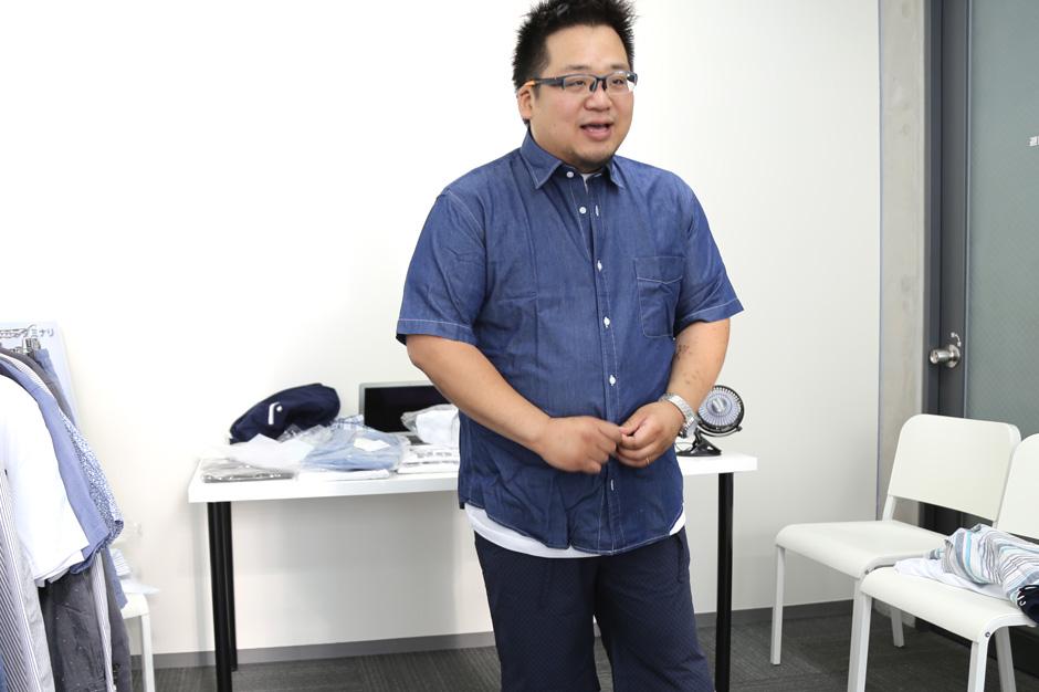 インド綿デニム風半袖シャツ[2L/3L/4L]