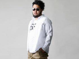 大きいサイズの秋 長袖シャツ